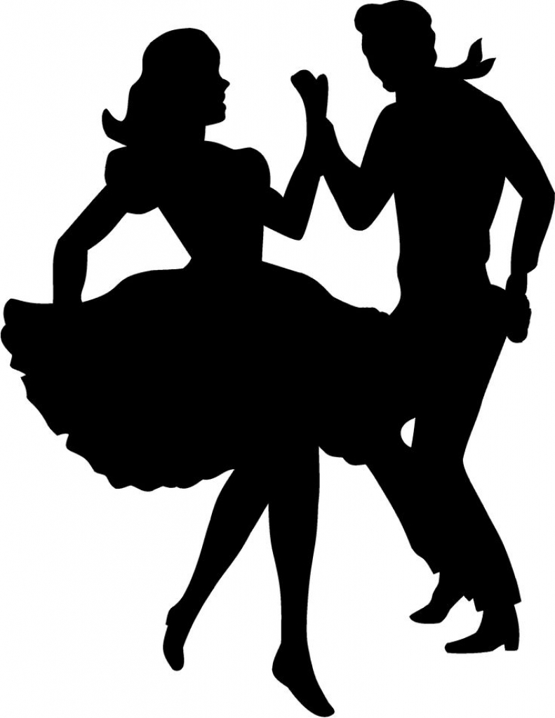 791x1024 Square Dance Silhouette Clipart
