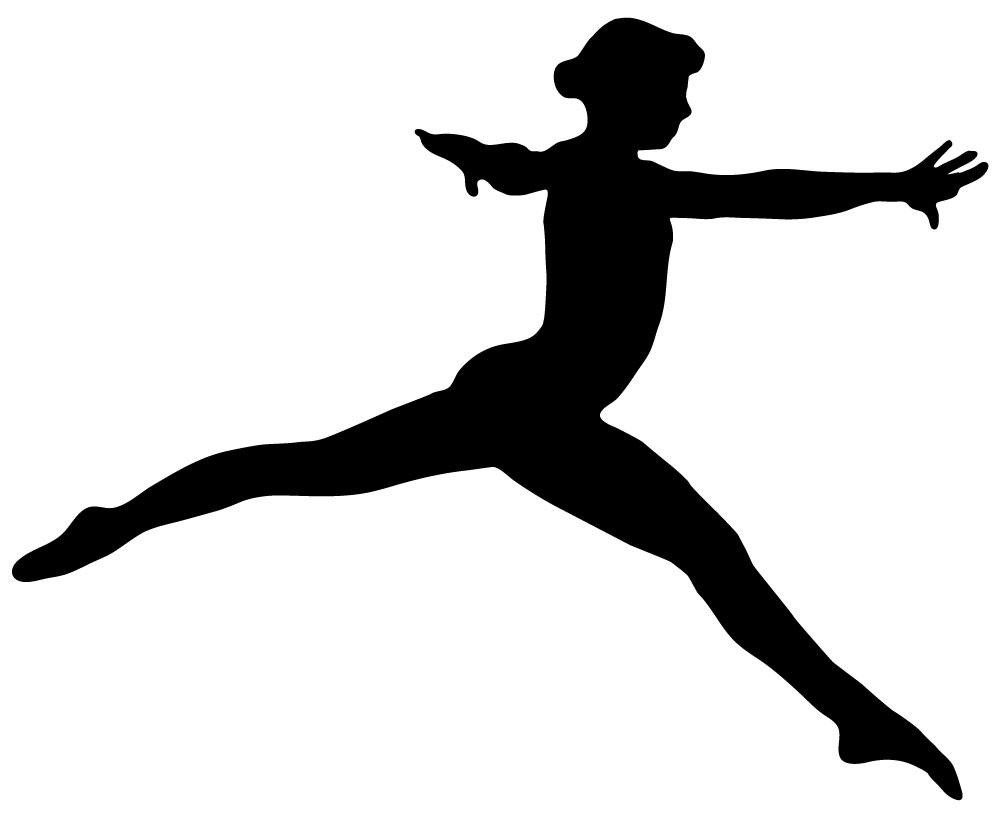 1000x818 Gymnastics Silhouette Style Leap Wall Decal Wallmonkeys