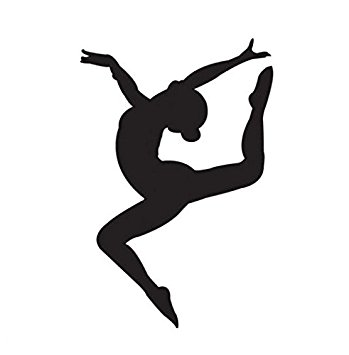 349x355 Gymnastics Girl Vinyl Decal Window Sticker Car Wall