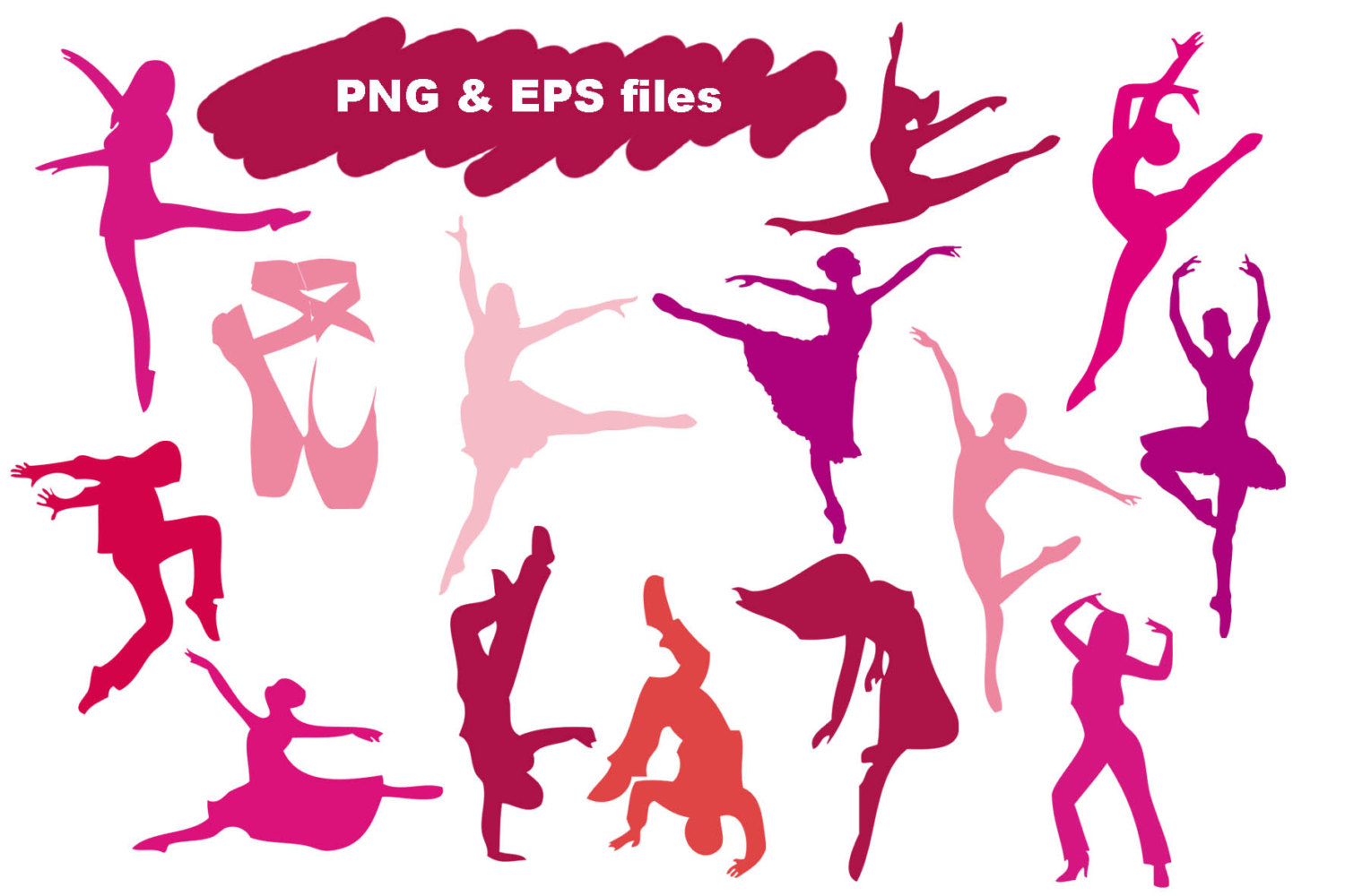 1500x1000 Dance Silhouette Cliparts Png Eps Instant Download Dance Clipart
