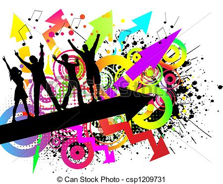 450x373 Background Clipart Dance Party