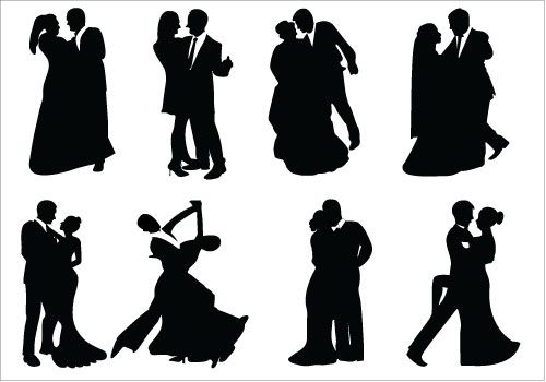 500x350 Bride And Groom Formal Dance Silhouette