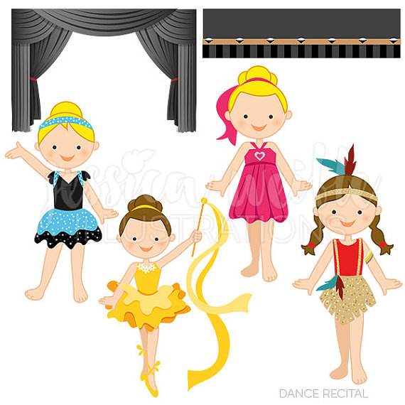 570x570 Dance Recital Cute Digital Clipart For Commercial Or Personal Use