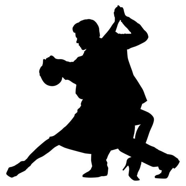600x600 Ballroom Dancing Silhouette Clipart