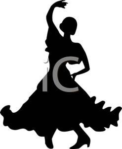 247x300 Silhouette Of A Pasa Doble Dancer Clip Art Image