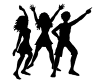 190x161 Angels On Stage Party Clip Art Dance Party Silhouettes