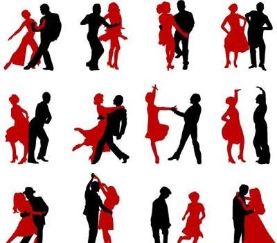 400x350 Dance Silhouettes Clip Arts, Clip Art