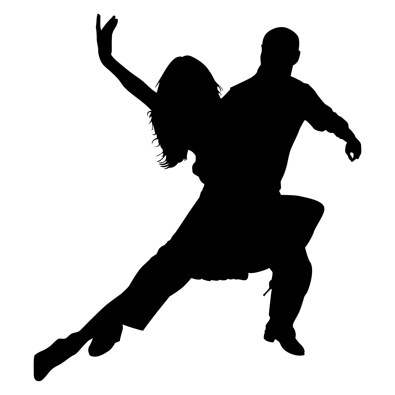 3000x3000 Dance Team Silhouette Clipart
