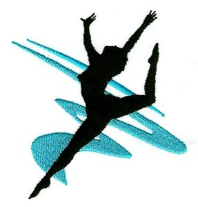 287x300 Dancer 5 Enhanced Silhouette (Cc0210) Embroidery Design By Country