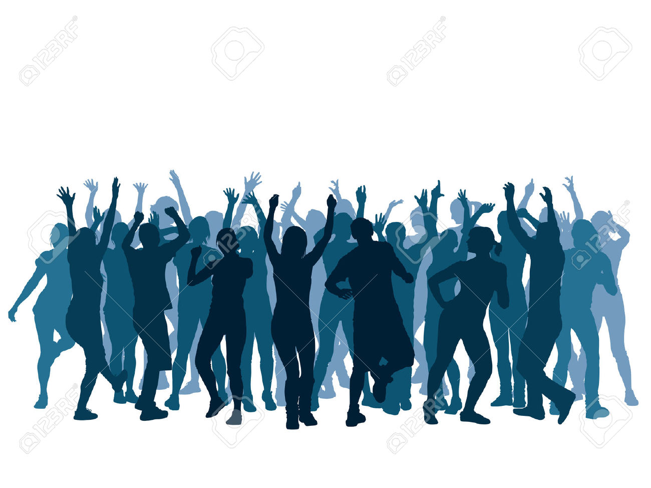 1300x974 Large Group Dancing Clipart