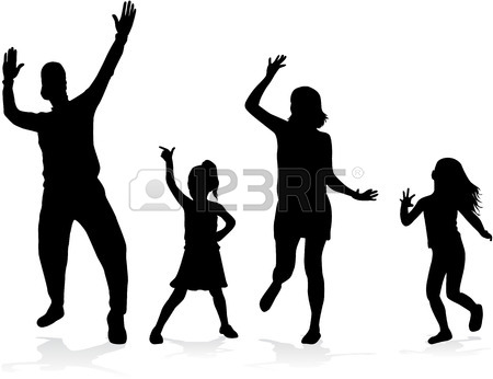 450x346 Dancing People Silhouettes Royalty Free Cliparts, Vectors,