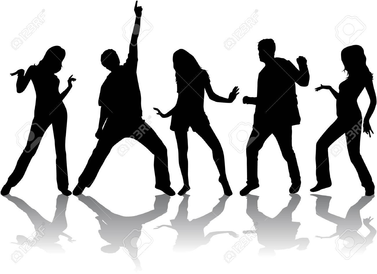 1300x944 Dancing Silhouettes Royalty Free Cliparts, Vectors, And Stock