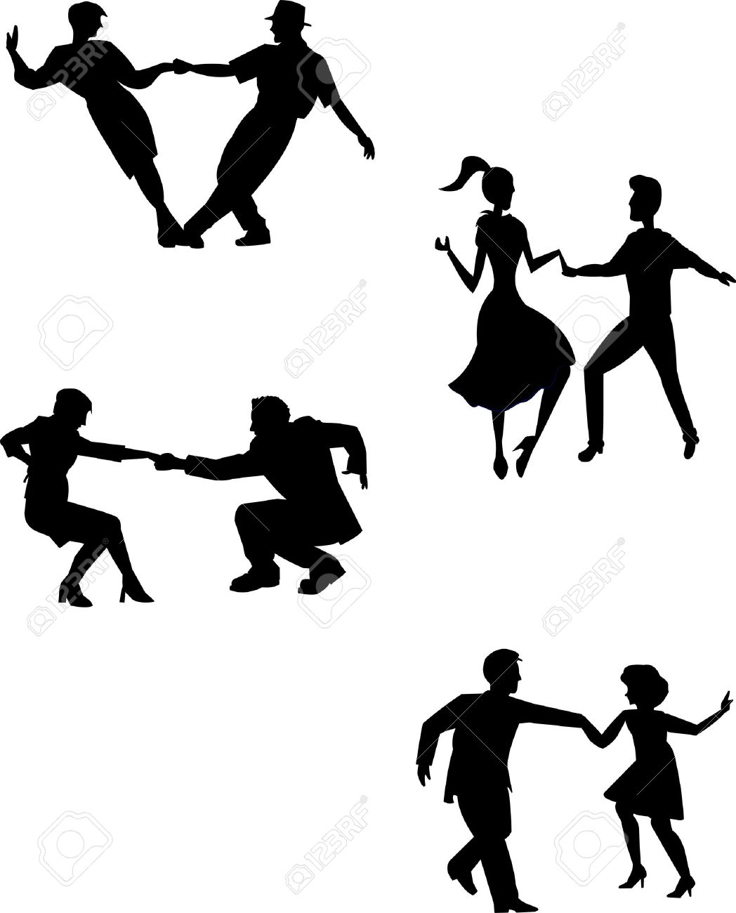 1048x1300 Think Swing Dancers In Silhouette Royalty Free Cliparts, Vectors