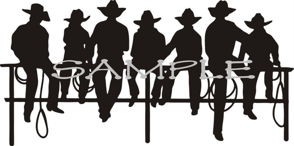 1024x508 Western Ranch Silhouette Clipart