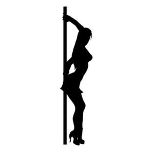 300x300 Pole Dancer Clipart Image