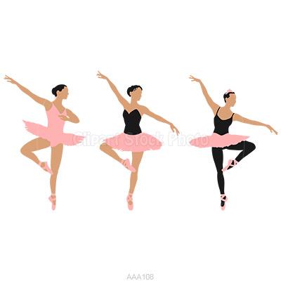 400x400 Clipart Of Ballerinas