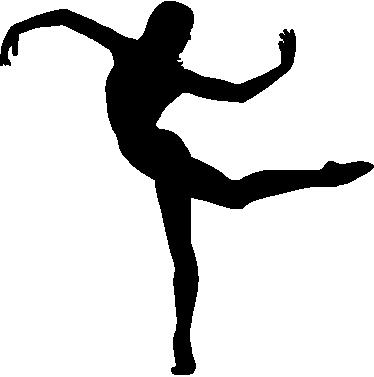 374x377 Contemporary Dancer Silhouette Sticker