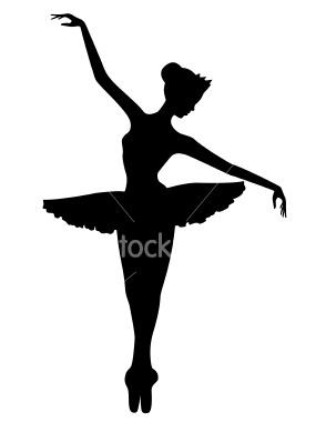 294x380 Jump Dancer Silhouette Clipart