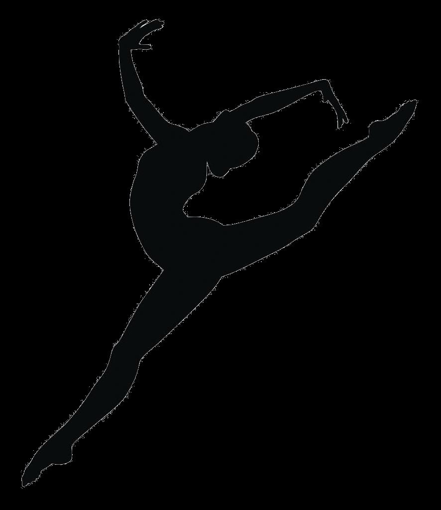 886x1024 Jump Dancer Silhouette Clipart