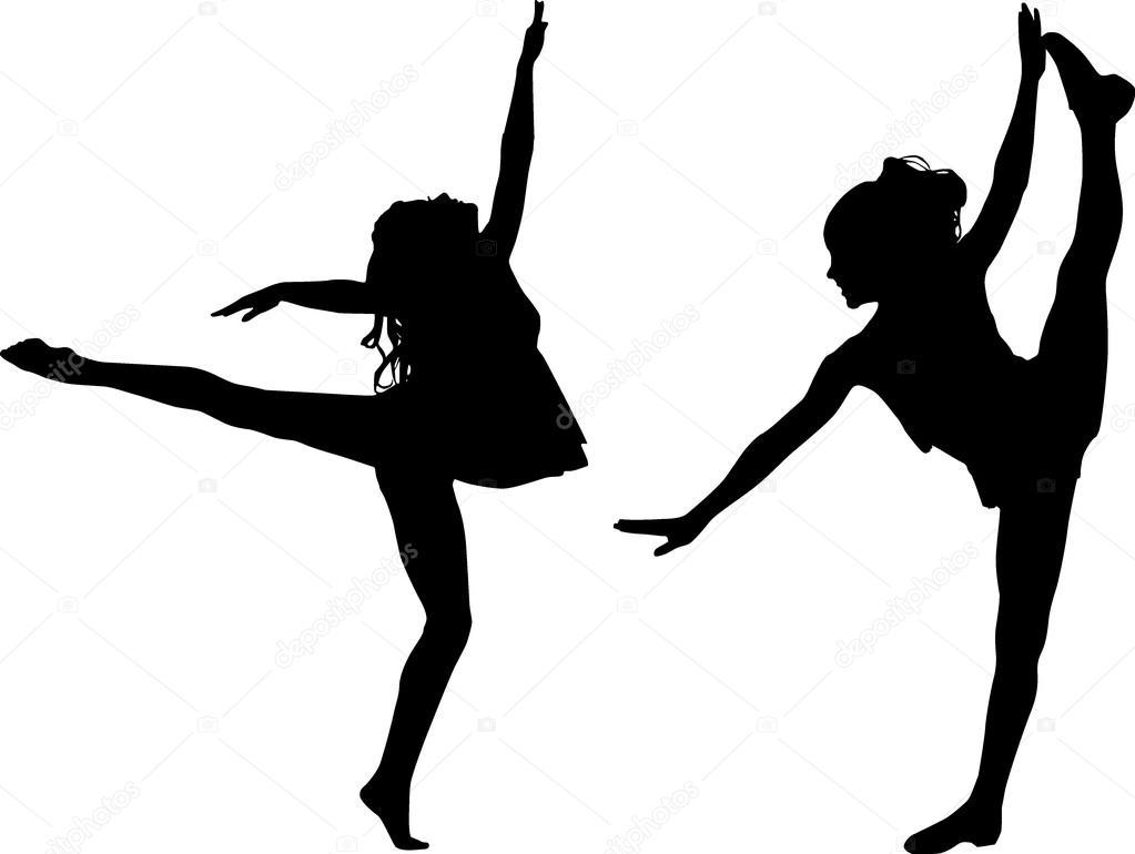 1023x770 Silhouette Sport Dance Stock Vector Sattva