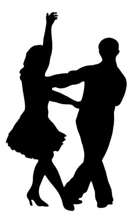 280x437 Ballroom Dancing Silhouette Clipart