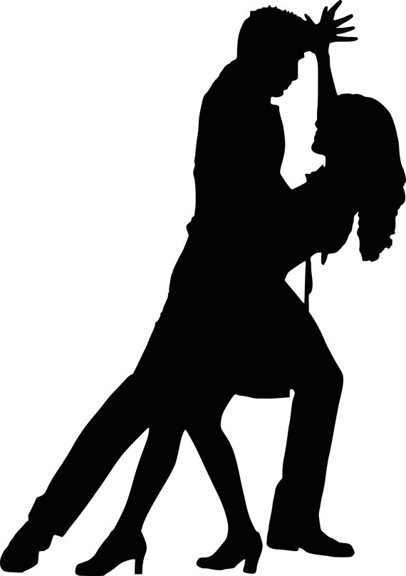 570x808 Dancer Silhouettes Bachata Salsa Instant Download Digital