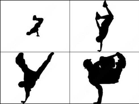 490x368 Dancer Silhouettes Photoshop Brushes Download (23 Photoshop