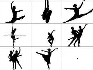 320x242 Dancing Silhouettes 815 Photoshop Free Brushes Download