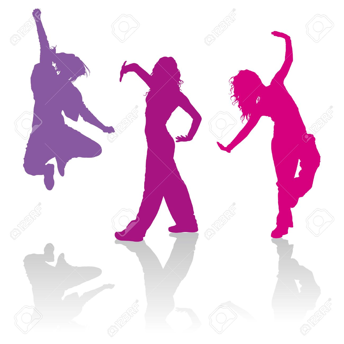 1300x1300 Detailed Silhouettes Of Girls Dancing Contemporary Dance Royalty