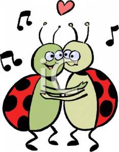 234x300 Ladybug Couple Dancing Clip Art Image