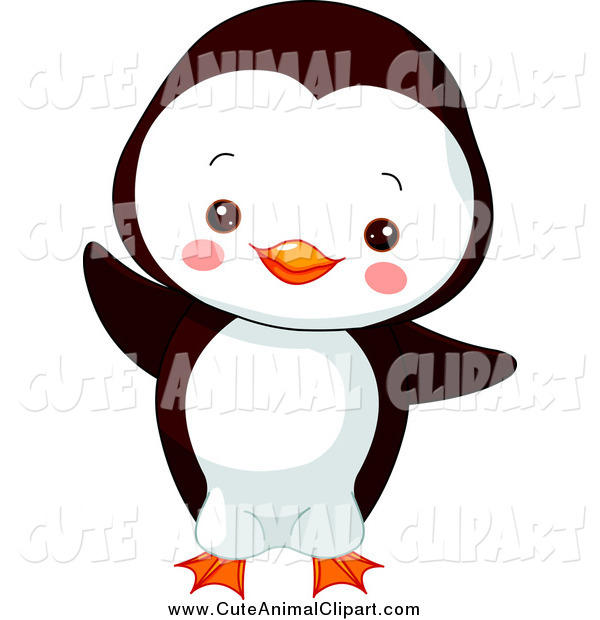 600x620 Vector Cartoon Clip Art Of A Cute Baby Penguin Dancing By Pushkin