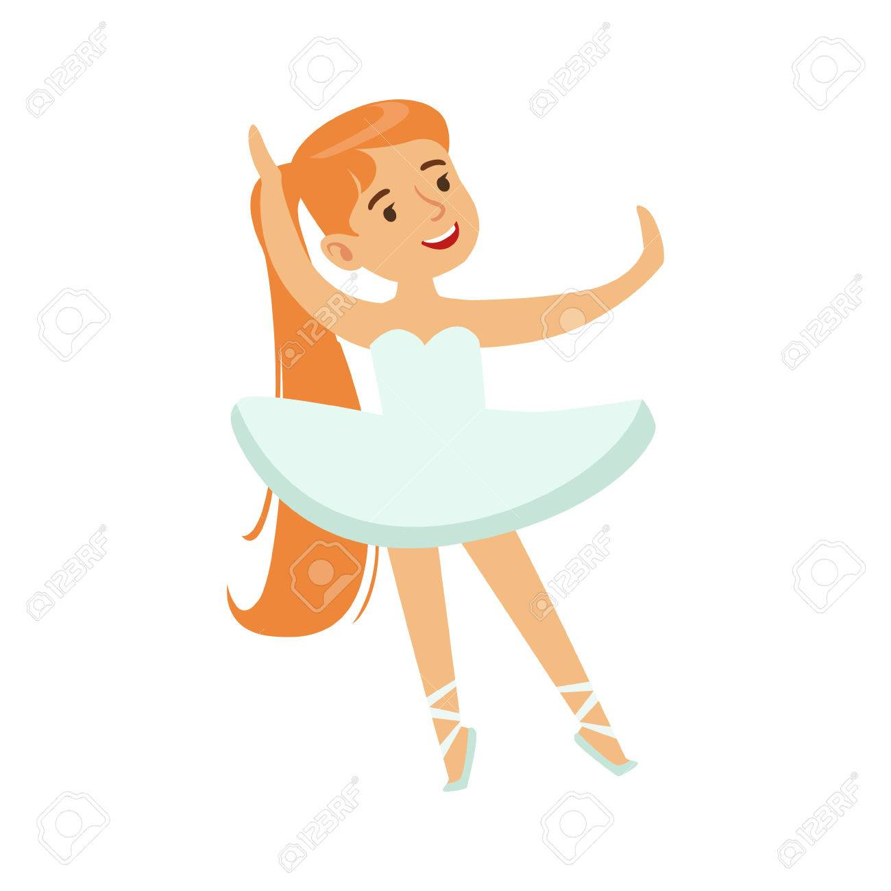 1300x1300 Little Girl In White Tutu Dancing Ballet In Classic Dance Class