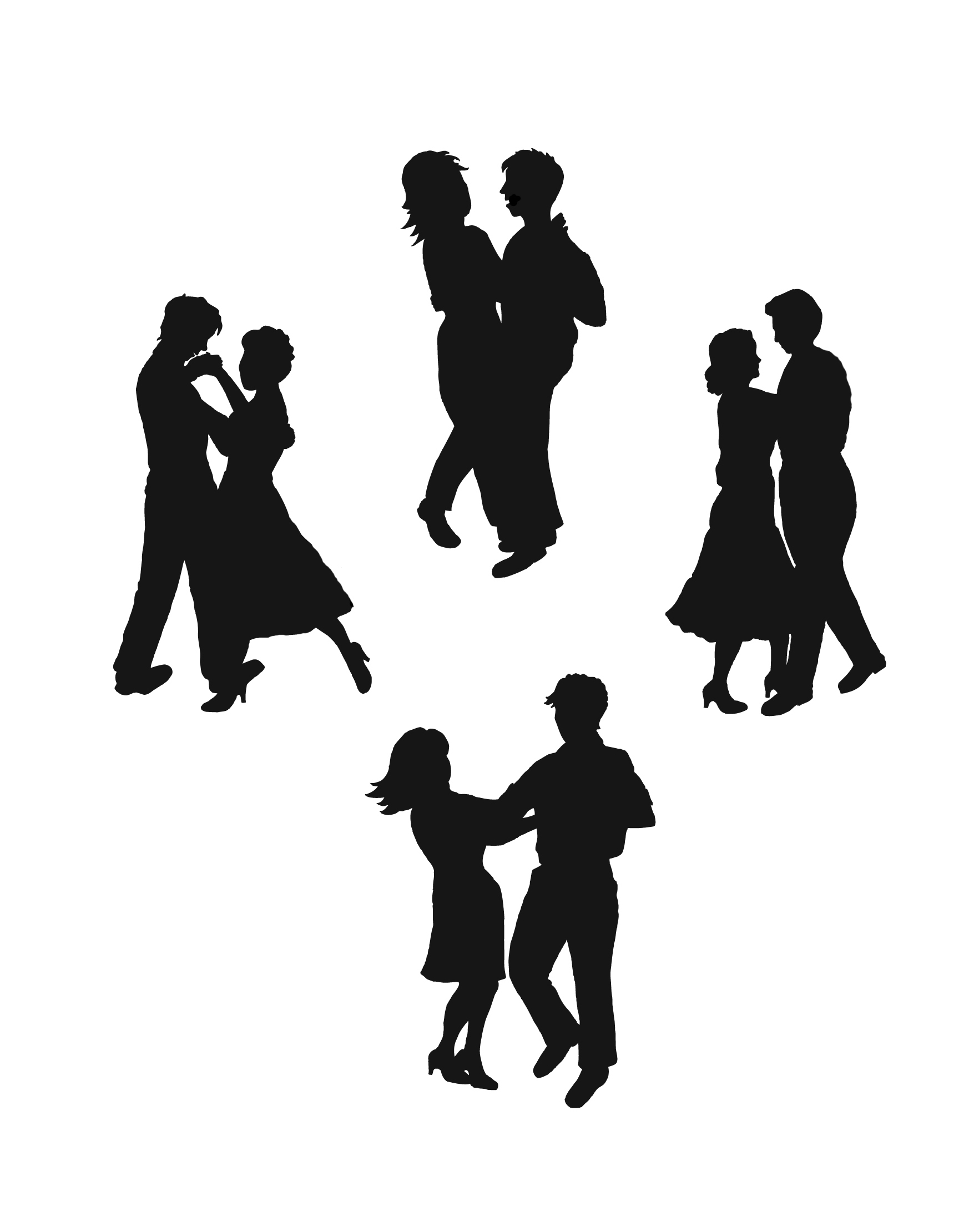 1746x2220 Clipart Black And White Goofy Girl Dancing