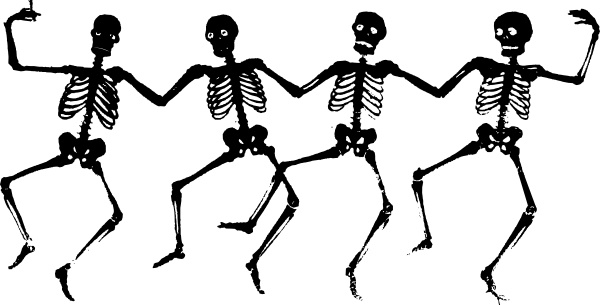 600x305 Dancing Skeletons Clip Art Free Vector In Open Office Drawing Svg