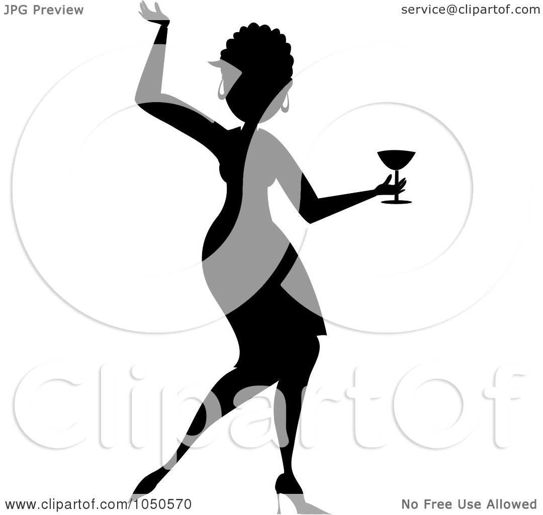 1080x1024 Royalty Free (Rf) Clip Art Illustration Of A Silhouetted Funky