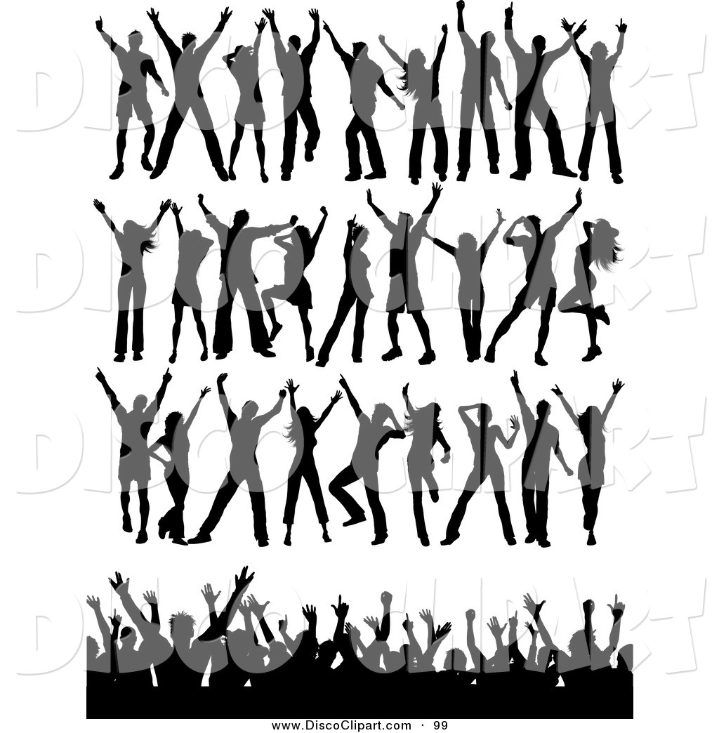 1024x1044 Vector Music Clip Art Of A Digital Collage Of Black Silhouetted