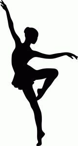 160x300 Dance Clipart Black And White