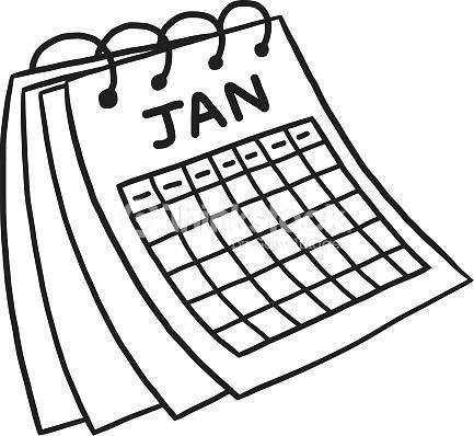 433x398 Calendar Clipart Free Calendar Black And White Black And White