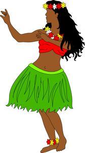 168x300 Hula Dancing Clipart Image