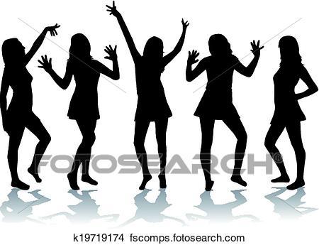 450x345 Clipart Of Dancing Girls