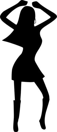 236x540 Afro Silhouette Clip Art Afro Dancing Woman Clip Art