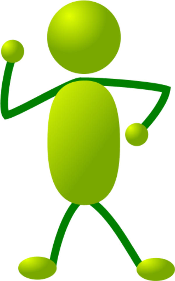600x965 Green Stick People Dancing Clipart