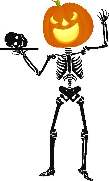 360x598 Halloween Skeleton Clip Art