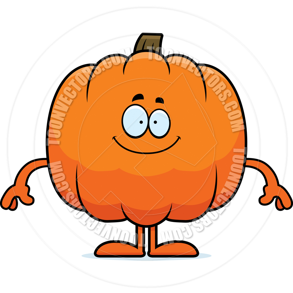 940x940 Cartoon Pumpkin Happy By Cory Thoman Toon Vectors Eps