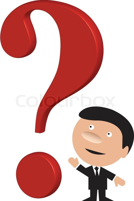 534x800 Funny Business Man With A Big Red Question Mark Stock Vector