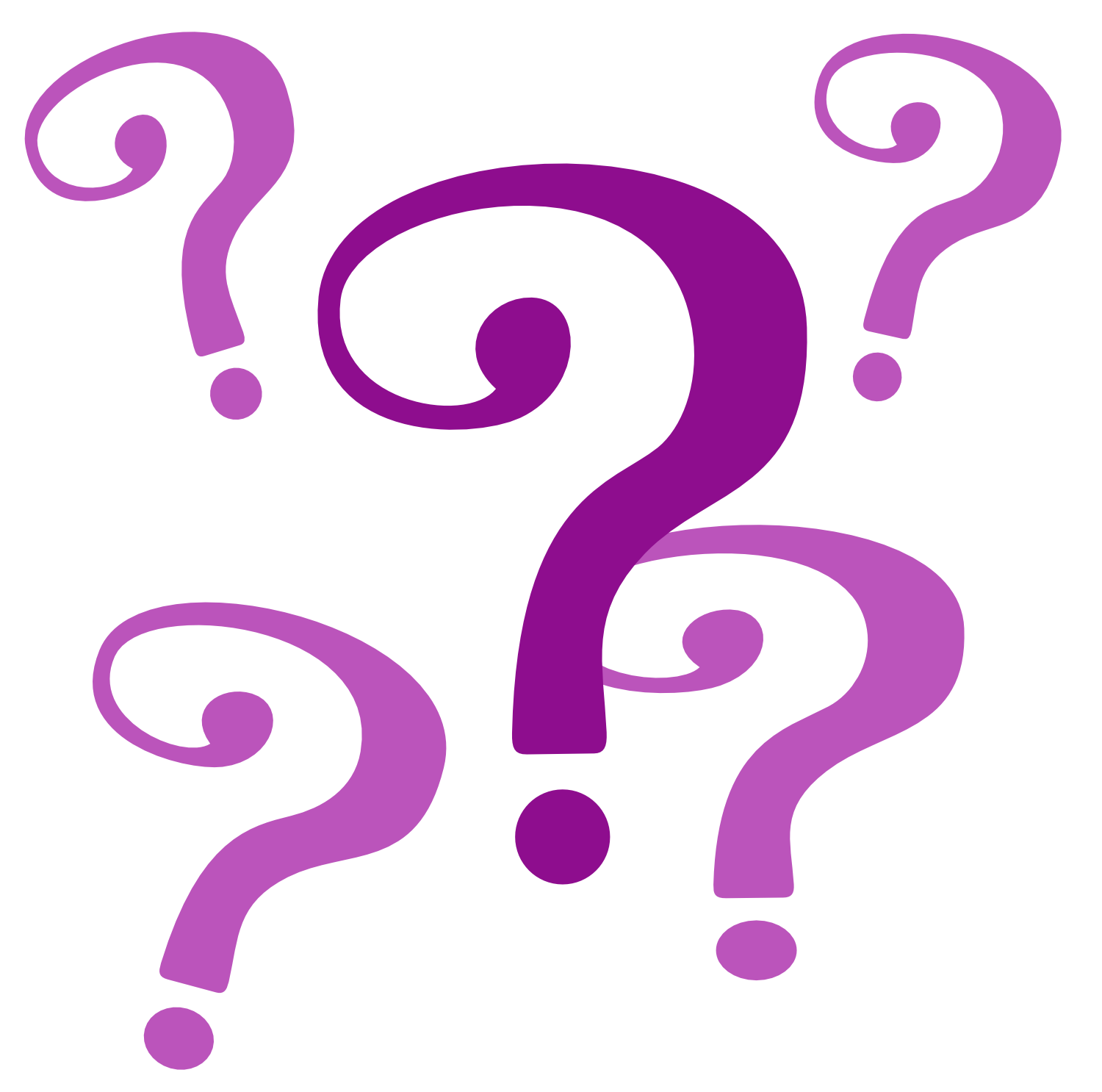 1500x1486 Purple Question Mark Clipart