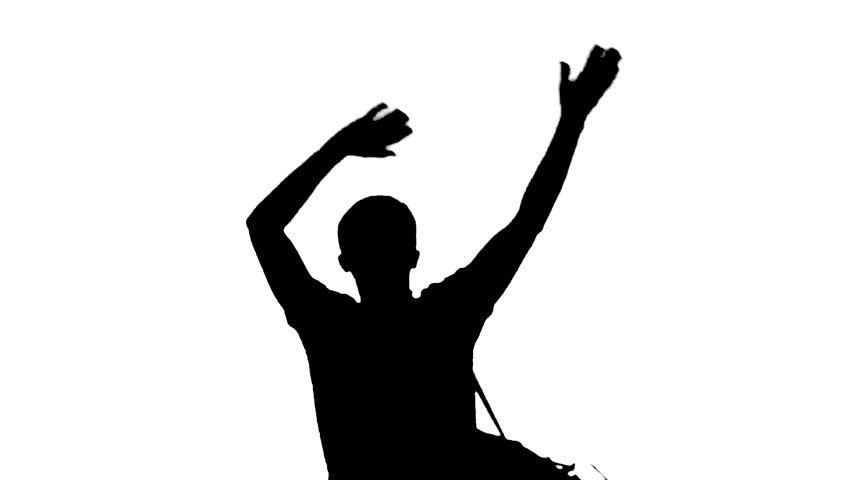 852x480 Shadow Silhouette Of Woman With Slim Body Dancing. Shadow Dancer