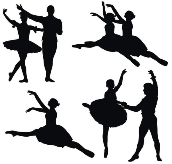 Dancing Silhouette Clipart