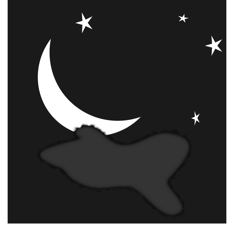 800x800 Night Sky Clipart Dark Night