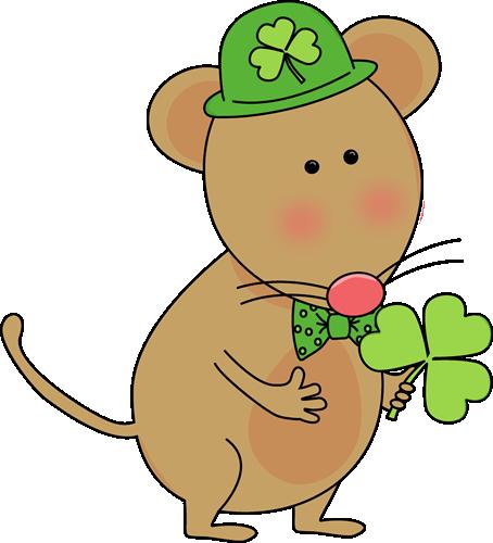 454x500 Saint Patrick's Day Mouse Clip Art